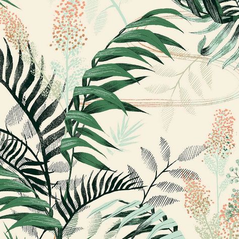 Hello #spring! This is a detail of a #pattern I created for @10_feet  and it totally gets me in a #sunny mood :-) #surfacepattern #tropical #patterndesign #fashion by lascarlatte