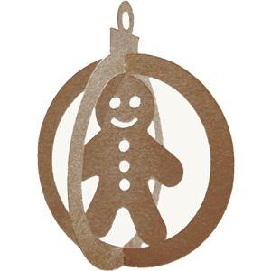 Silhouette Design Store - View Design #22370: 3d christmas ornament-gingerbread boy