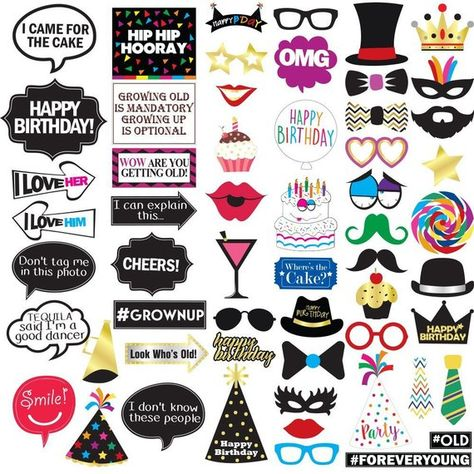 11th Birthday Photo Booth Party Props Decorations and Favors 40 Pieces Funny 11th Birthday Party Supplies