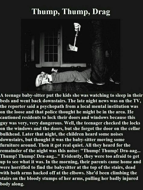 I heard this story as a kid, but it's still creepy