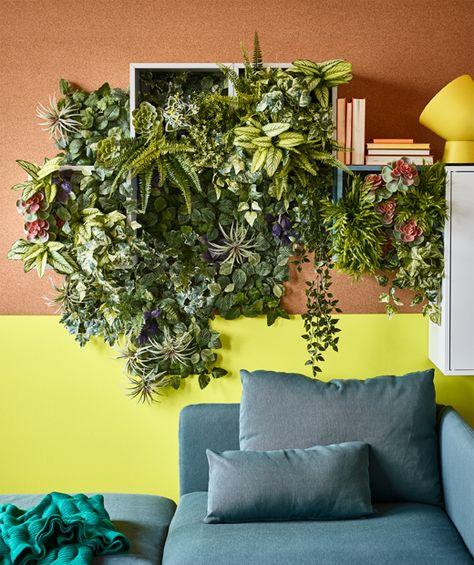 ikea a des tas de fleurs et de plantes artificielles pour