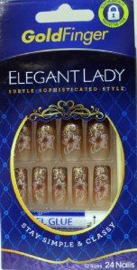 Kiss Gold Finger ELEGANT LADY 24 Nails GF34 (1 Pack) by Gold Finger. $6.99