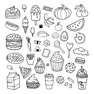 14+ Food clipart black and white png ideas