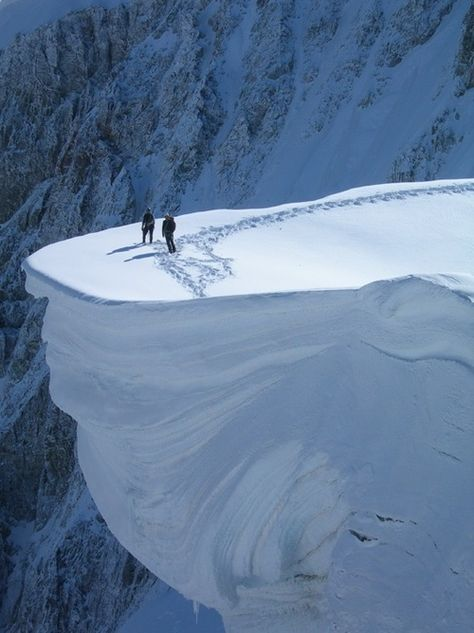 On the Edge, Mount Blanc, France #france #edge