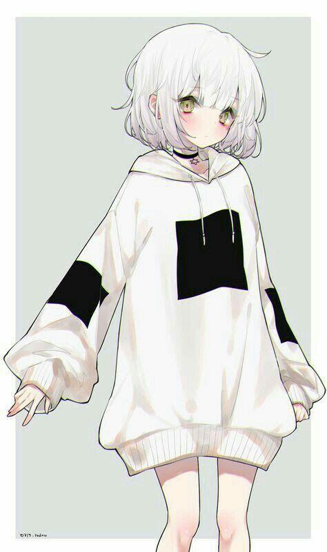 Anime girl hoodie | Etsy