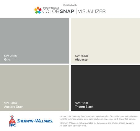 Exterior Palette Inspired By Paris Sherwin Williams Gris Sw