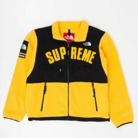 Supreme The North Face Arc Logo Denali Fleece Jacket Yellow
