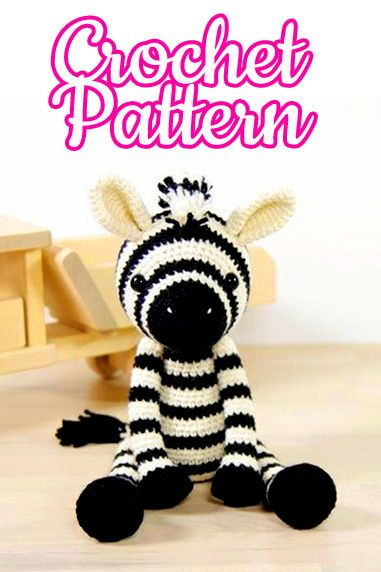 Zebra - Julio Toys | Crochet patterns | Amigurumi | 572x381