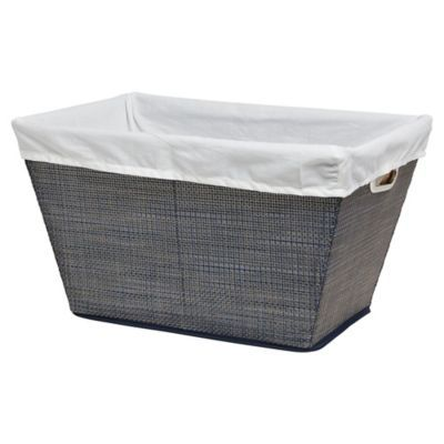 Baum Essex Parker Laundry Basket In Denim With Images Basket