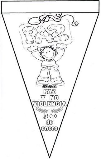 Recursos Y Actividades Para Educación Infantil Banderines Dia De La Paz Dia De La Paz Mural De La Paz Paz