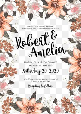 Vector Flowers Invitations Invitation Invitations Png