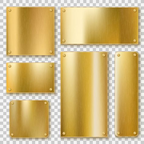 Download Silver Plaques Collection For Free Gold Metal Initials Logo Design Metal