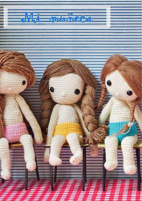 Boneca de crochê: +40 ideias com amigurumi fantásticas ... | 640x452