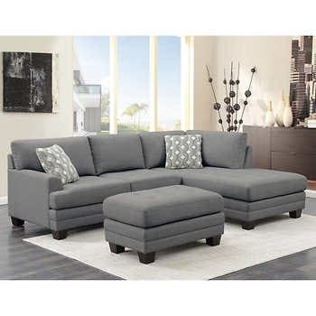 Sectionals Sofas Costco In 2020 Sectional Sofa Ottoman In Living Room Grey Sectional Sofa