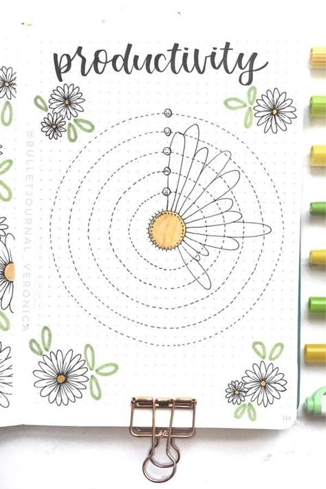 If you want to add a super cute floral theme to your bullet journal spreads this month, check out these daisy monthly covers, habit trackers, weekly spreads and more for new ideas / inspiration! Bullet Journal Inspo, Bullet Journal Flowers, Bullet Journal Stickers, Bullet Journal Spread, Bullet Journal Notebook, Bullet Journal School, Bullet Journal Ideas Pages, Book Journal, Journals