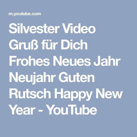 Silvester Video Gruß für Dich Frohes Neues Jahr Neujahr Guten - rauchmelder in der küche