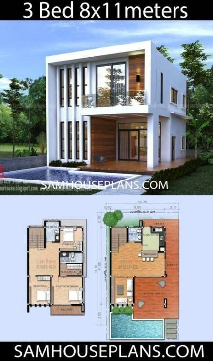 Pin By Aurora On Planos De Casas Sencillas Small House Design Exterior Small House Design Plans Small House Design