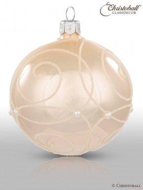 Christbaumkugeln Cremefarben.Perelle Christbaumkugeln Champagne 6er Christoball Ornaments Ii