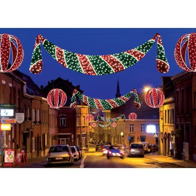 The Holiday Aisle Commercial Grade Zurich Swag 1460 Light Lighted Window Decor Wayfair In 2020 Christmas Decorations Holiday Lights Christmas Lights