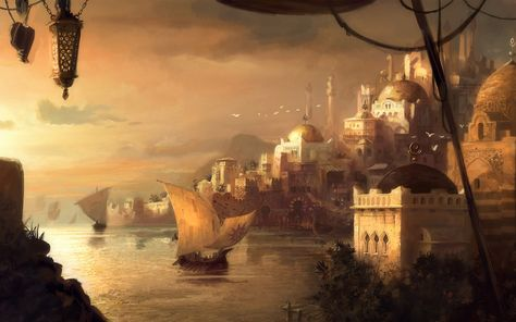 fantasy arabic city - Google Search | Paysage imaginaire ...