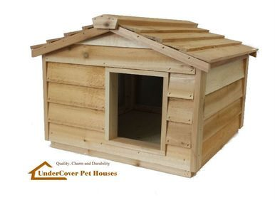Large Insulated Cedar Cat House Small Dog House Small Dog