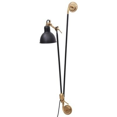 Renwil Ws004 Bristo Single Light 47 Tall Wall Sconce Black