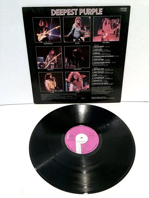 Deep Purple Deepest The Very Best Of Vinyl Record 1980 Vintage German Import Greatest Hits Space Truckin Black Night Speed King Smoke Water In 2020 Vinyl Records Vintage Vinyl Records Deep Purple