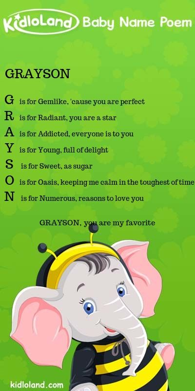 Kidloland Create Your Own Baby Name Poem Baby Names