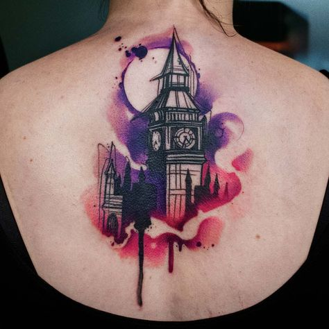 tattoos i did this #bigben themed...