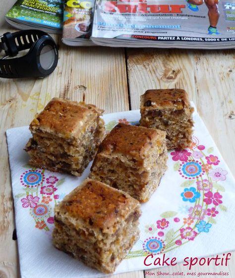 Cake sportif pour trail et ultra trail  300 g de farine complète - 150g de sucre - 150g de muesli - 2 c. à soupe de germe de blé - 2 c. à soupe de poudre d'amandes - 2 c. à soupe de poudre de noisettes - 1 sachet de levure chimique - 250g d'abricots secs - 250g de raisins secs - 1/2 litre de lait de soja arôme vanille -