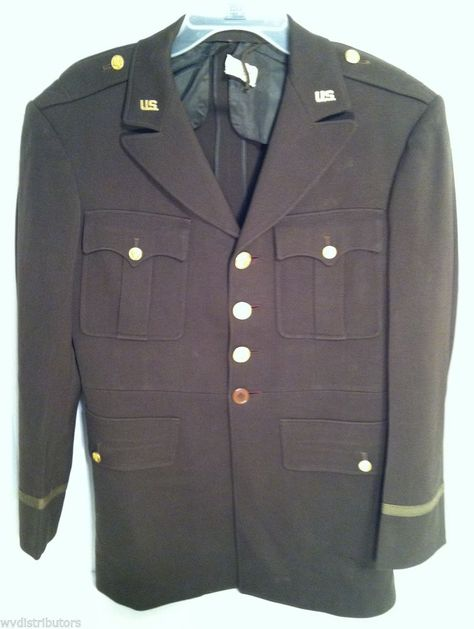 US MILITARY ~ WWII ARMY OFFICERS UNIFORM COAT ~ DATED 1942