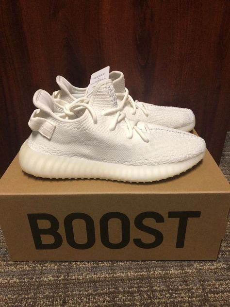 Adidas Yeezy 350 Boost V2 Triple White | Cream | Size 9 | 100% Authentic #fashion #clothing #shoes #accessories #mensshoes #athleticshoes (ebay link)