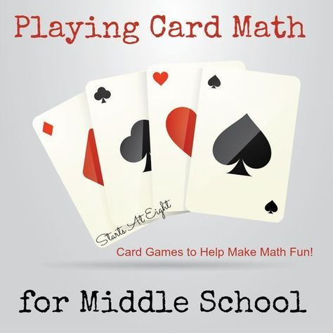 Playing Card Math for Middle School
