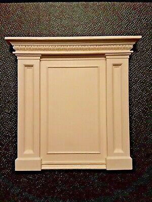 FIREPLACE OVERMANTLE ~ Jim Coates ~  Dollhouse Miniature ~ 1:12 scale ~ Room Box