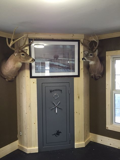 built in gun safe western decor pinterest guns men cave and house