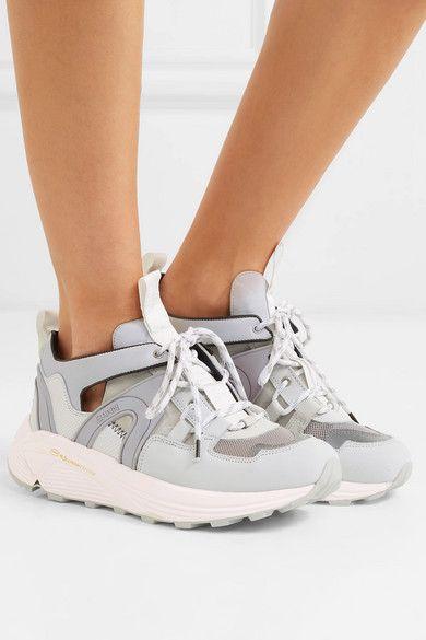 mesh sneakers | GANNI | Suede