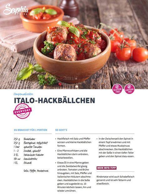 Sophia Thiel Rezept Hackballchen Rezepte Gesunde Rezepte Gesundes Essen Rezepte