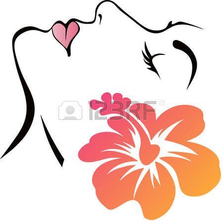 Dibujo Cara Mujer Cara De La Mujer Con La Flor Perfil De Mujer Dibujo Rostro De Mujer Dibujo Silueta De Mujer Dibujo
