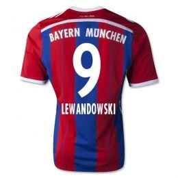 new concept b093d fe833 14-15 FC Bayern Munich Cheap Lewandowski #9 Home Jersey ...