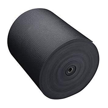 Hello Fit Big Economy Thick Yoga Mat Roll 24 X 6mm X 104 Ft Black Thick Yoga Mats Yoga Mat Thick