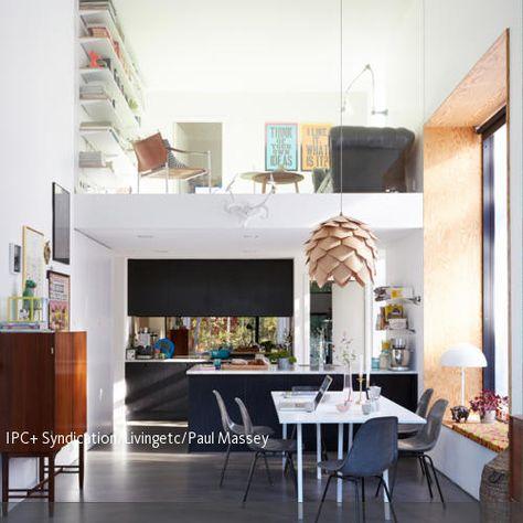 Hell und lichtdurchflutet präsentiert sich diese Wohnidee auf zwei - bilder offene küche