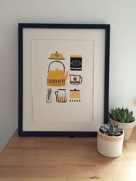 Scandinavia kitchen print #hannahmatthewsdesign
