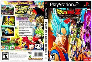 Dragon Ball Z Budokai Tenkaichi 4 Capa Game Ps2 Dragon Ball