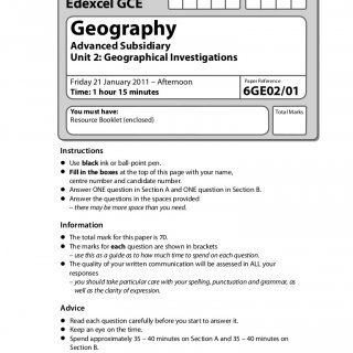 A  full marks GCSE geography coursework  rivers  Geography Tourism Coursework