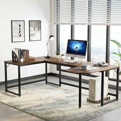 Large U Shaped Desk Writing Table For Office Staff Or Designers Free Cpu Stand Affilink Desk Desksetup Office Computer Desk Home Desk Home Office Desks