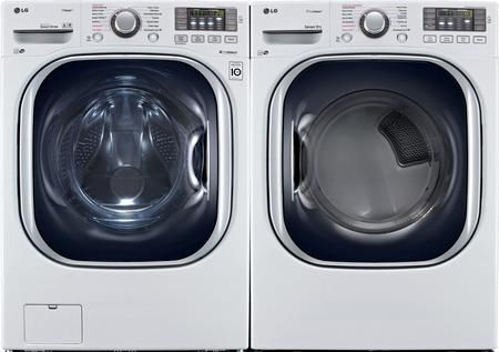 LG Turbo Series Ultra-Capacity Laundry System with ELECTRIC Dryer In Alluring Black Stainless WM4370HKA+DLEX4370K
