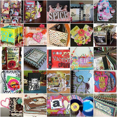 OMG! lots of ideas for mini scrapbooks