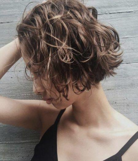 40代髪型 ショートボブパーマヘアカタログ ヘアスタイル20選 Lala