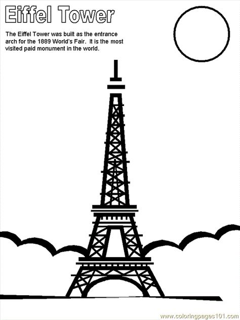 France Colouring Pages Free Printable Coloring Page Eiffel Tower Countries France Eiffel Tower Coloring Pages Printable Coloring Pages