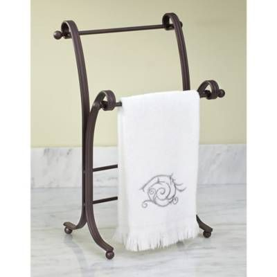 Product Image For Interdesign York Lyra Freestanding Towel Holder